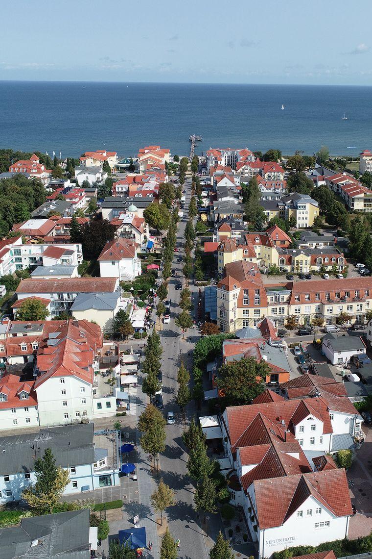 Die Strandstraße in Kühlungsborn ist eine beliebte Flaniermeile.