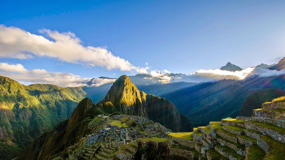 Machu Picchu, die Inka-Stadt in den peruanischen Anden.