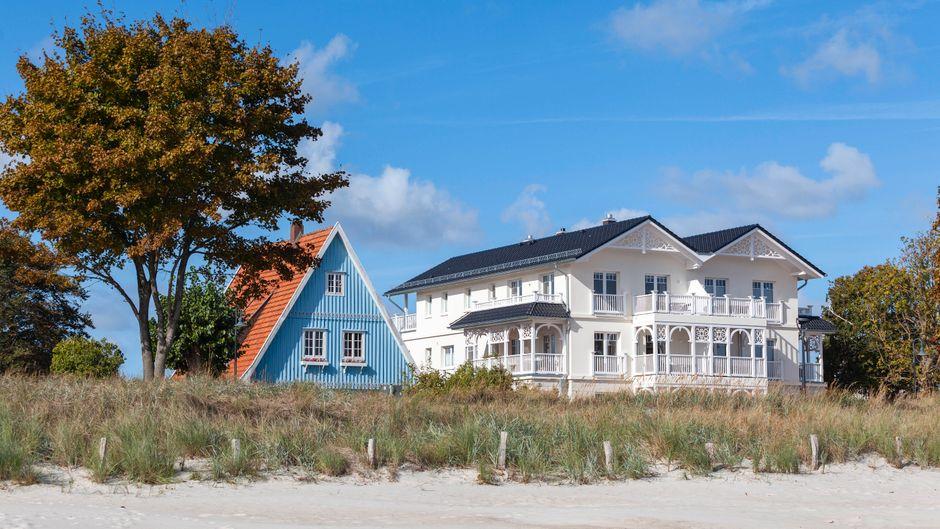 Ferienhäuser an der Ostsee.
