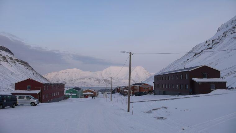 Häuser im Städtchen Longyearbyen