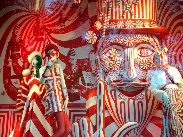 Extravagant: Weihnachtsschaufenster von Bergdorf Goodman.