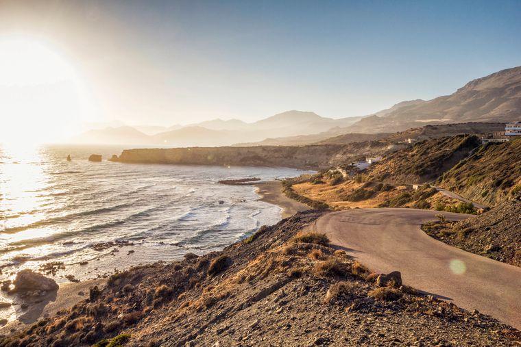 Der Strand in der Nähe von Triopetra ist einer der schönsten auf Kreta.