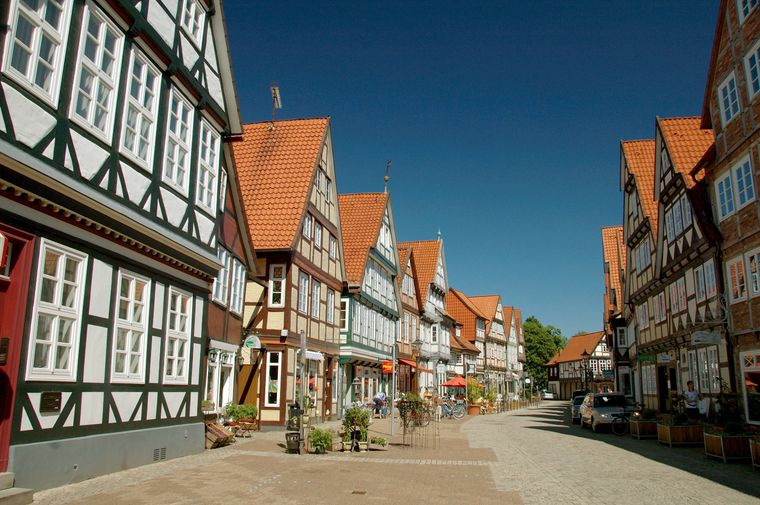 Fachwerkhäuser, Schuhstraße, Altstadt von Celle