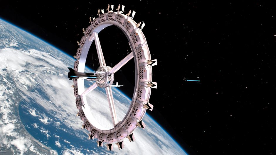 Das Weltraumhotel Voyager Station könnte bereits 2027 einsatzbereit sein.