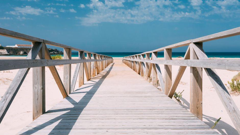 Der schöne Strand von Tarifa.