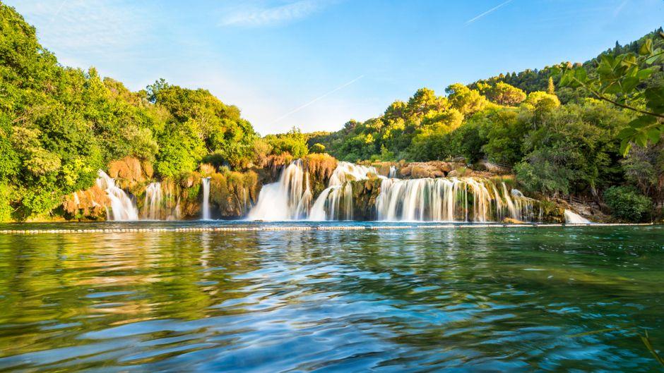 Der Skradinski-Wasserfall im Nationalpark Krka.