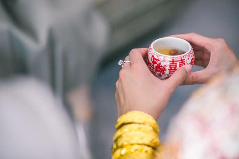 Traditionelle Teezeremonie in China.
