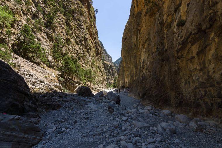Die wunderschöne Samaria-Schlucht auf Kreta.