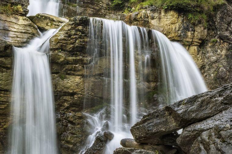 Die imposanten Kuhfluchtwasserfälle in Farchant.