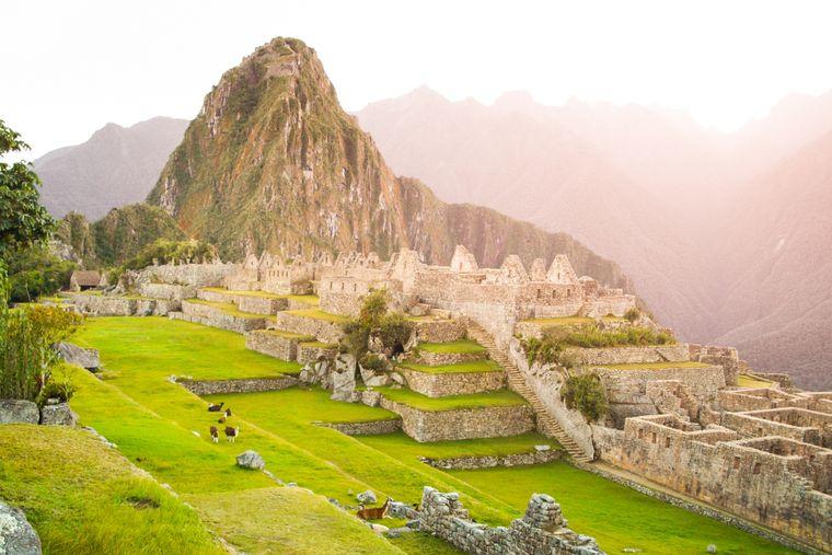 Blick auf Machu Picchu in Peru.