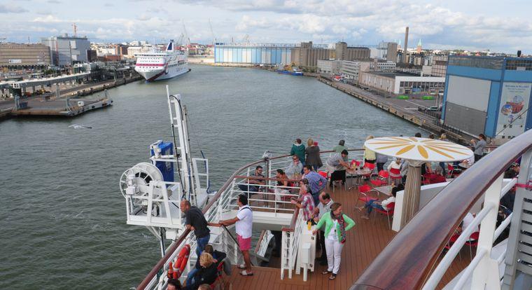 Shipspotting in Helsinki.