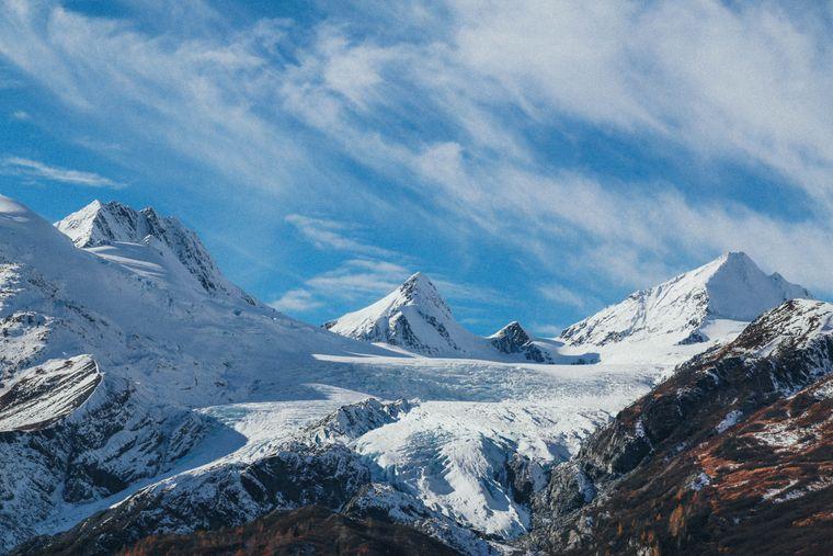 Gletscher bestimmen das Bild in der arktischen Inselwelt Alaskas.