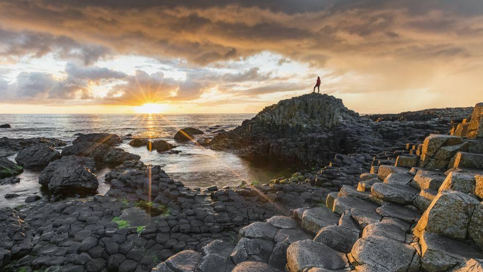 """Der """"Damm des Riesen"""" in Irland."""