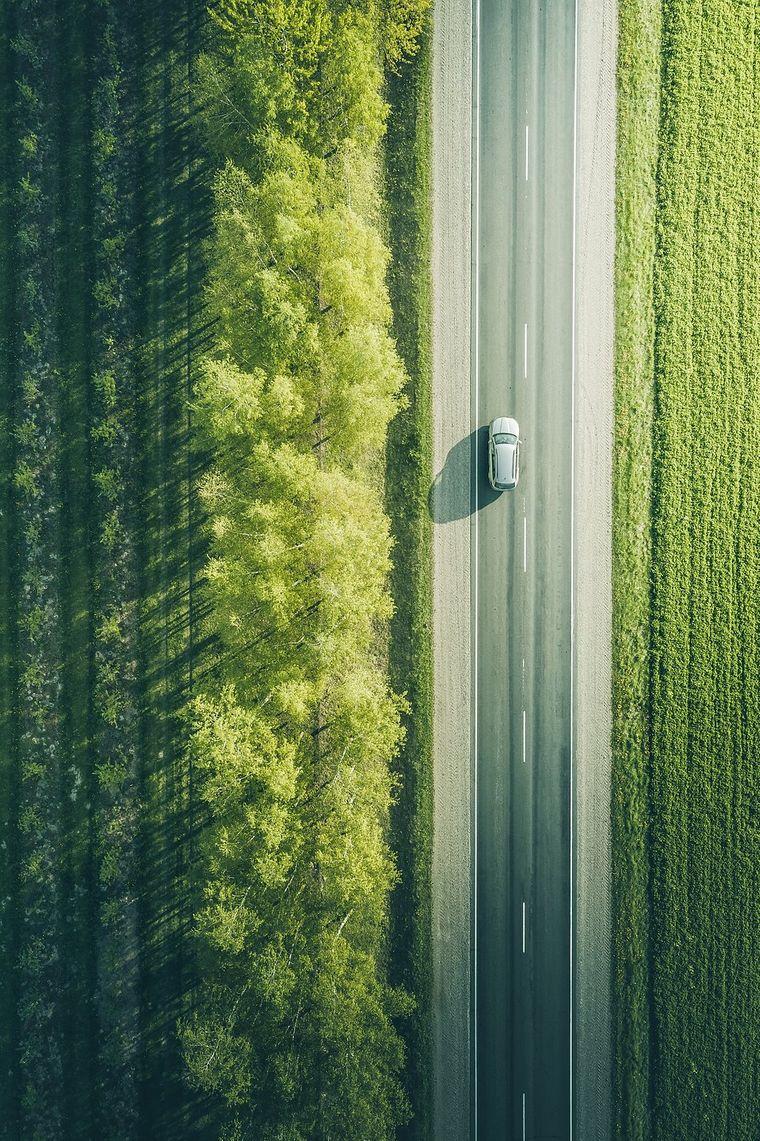 Eine Straße in Weißrussland.