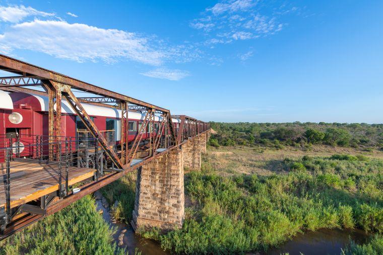 Das Hotel Kruger Shalati ist aus einem renovierten Zug aus den 1950er-Jahren entstanden. Endstation ist der Kruger-Nationalpark in Südafrika.