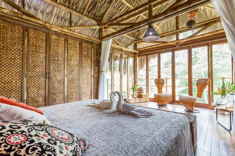 Die romantische Cabana liegt auf einer Ökofarm in den kolumbianischen Anden.