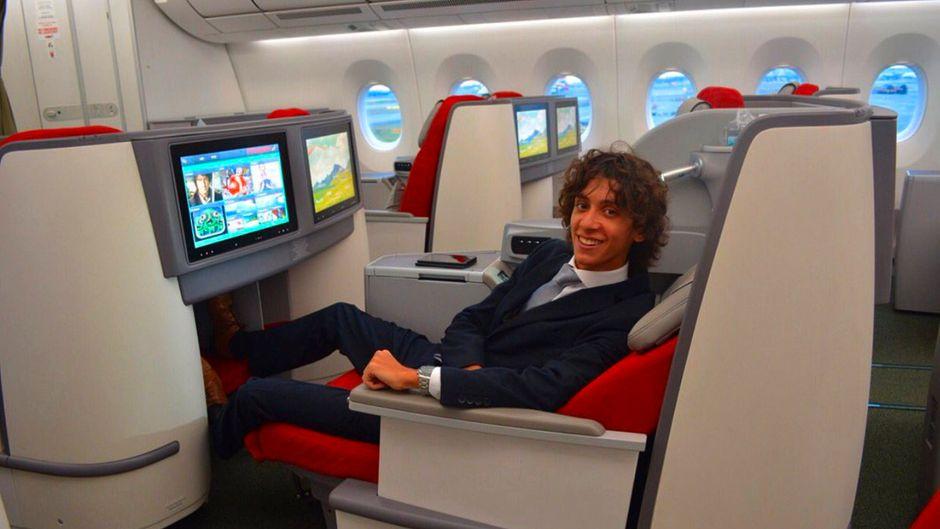Alex Macheras testet Flugzeuge – hier eine Maschine von Ethopian Airlines.