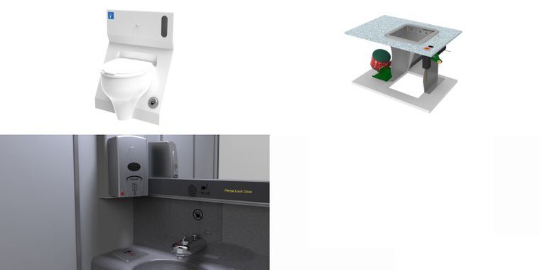 So könnten Flugzeug-Toiletten künftig aussehen.