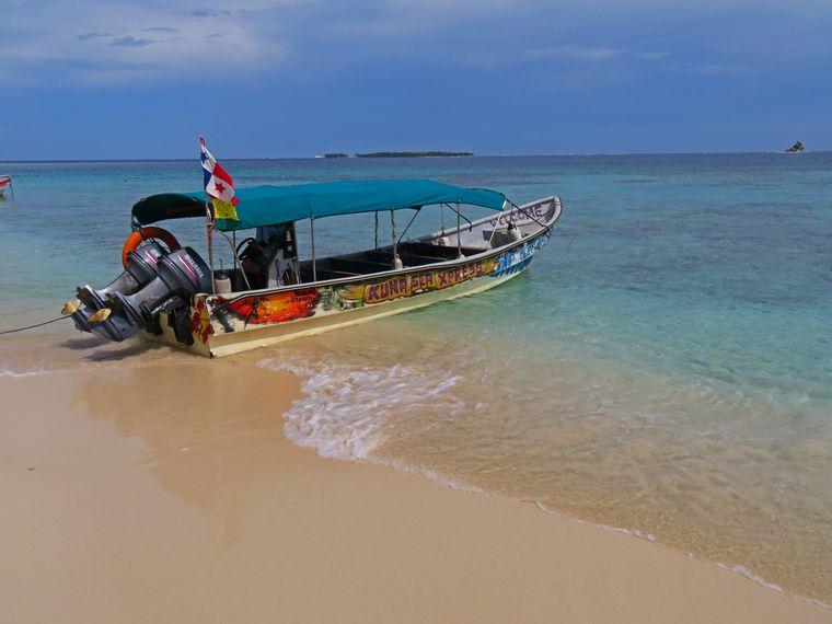 Mit dem Boot zu den San-Blas-Inseln.