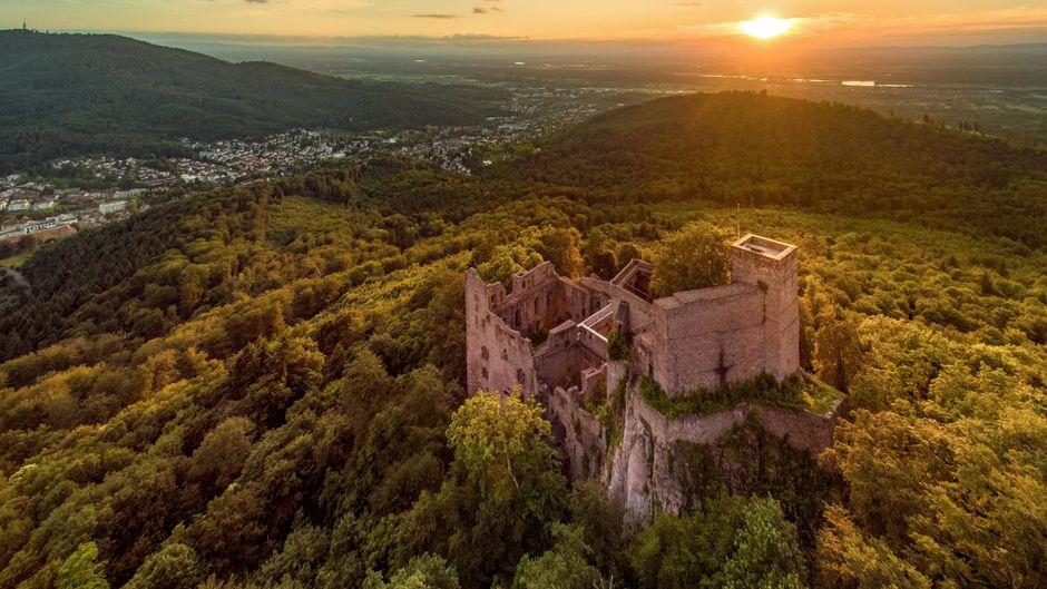 Die Burgruine Burg Hohenbaden bei Baden-Baden.