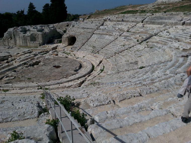 Griechisches Theater in Syrakus.