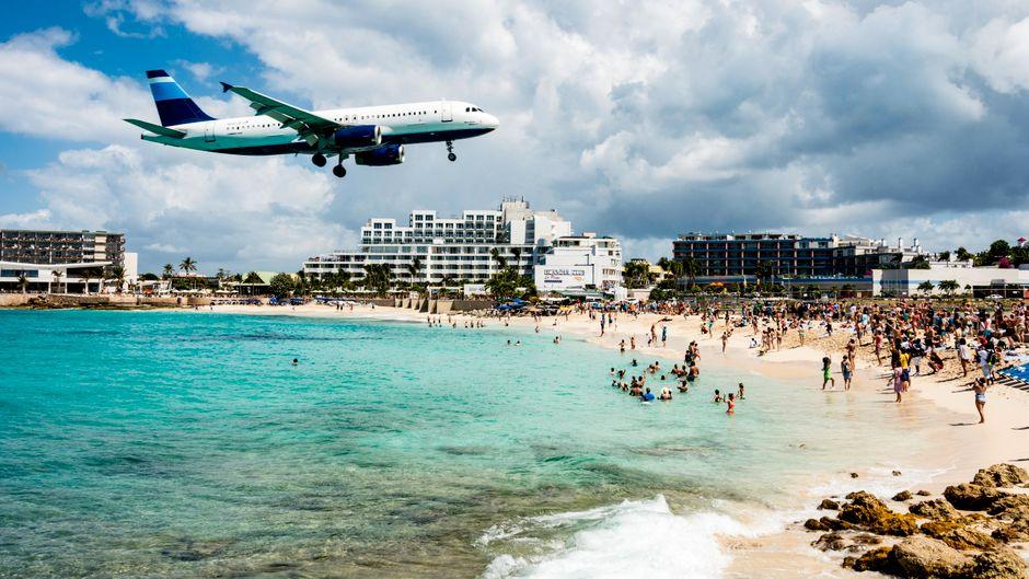 Sint Maarten in der Karibik.