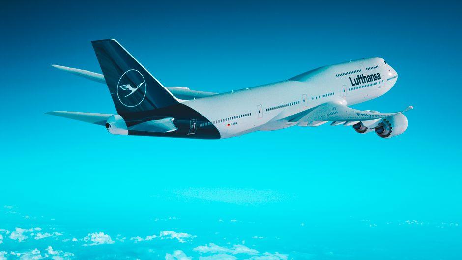 Im neuen Lufthansa-Bordmagazin ist eine Boeing 747-8 im neuen Gewand zu sehen.