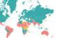 Karte zeigt Haupt- und Nebensaison sowie Übergangszeit für Reisen in den Ländern der Welt.