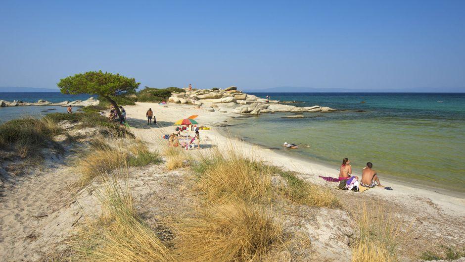 Karidi Beach zählt zu den schönsten Ständen in Sithonia auf der Halbinsel Chalkidiki.