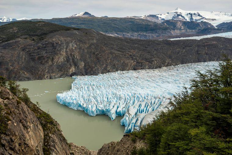 Wilde Gletscher im Torres del Paine National Park in Chile.