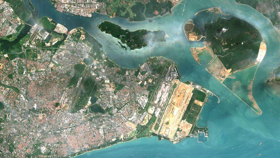 Von oben sieht's ganz friedlich aus – und auch am Boden fühlen sich die Bewohner von Singapur sicher.