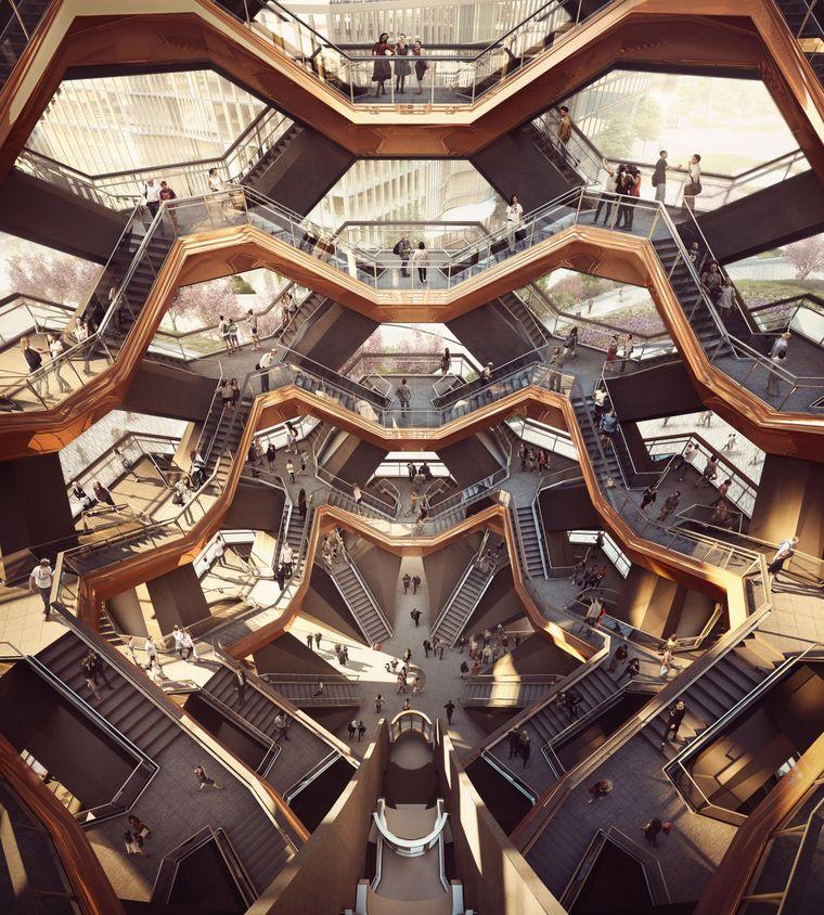 """Das Innere des """"Vessel"""" im Hudson Yards."""
