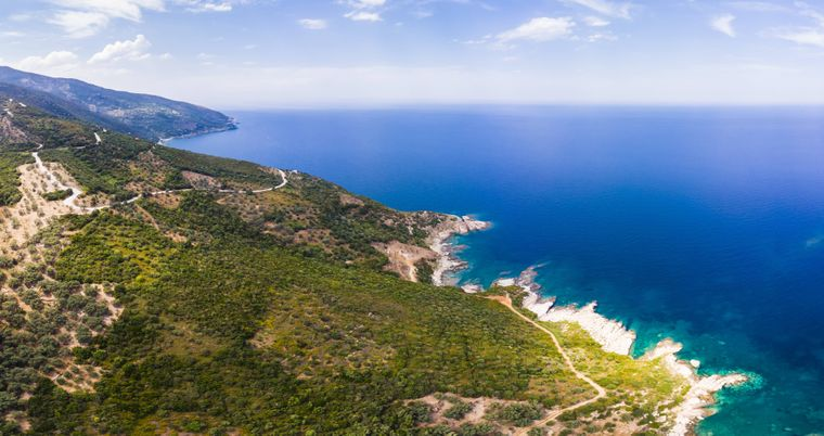 Die Halbinsel Pelion in Griechenland.