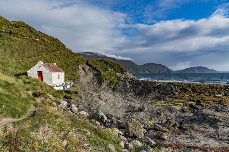 Steinhaus auf der Isle of Man.