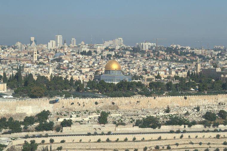 Blick auf Jerusalem in Israel.