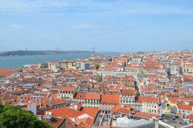 Eine unglaubliche Aussicht hast du von der Castelo de São Jorge