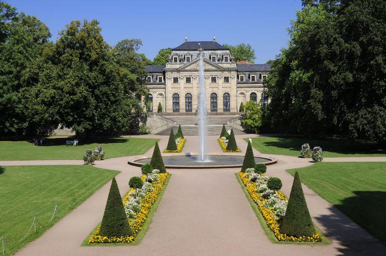 Der Schlssgarten von Fulda, Hessen.