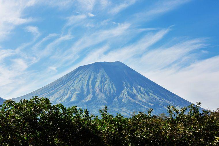 Bergpanorama in Nicaragua.