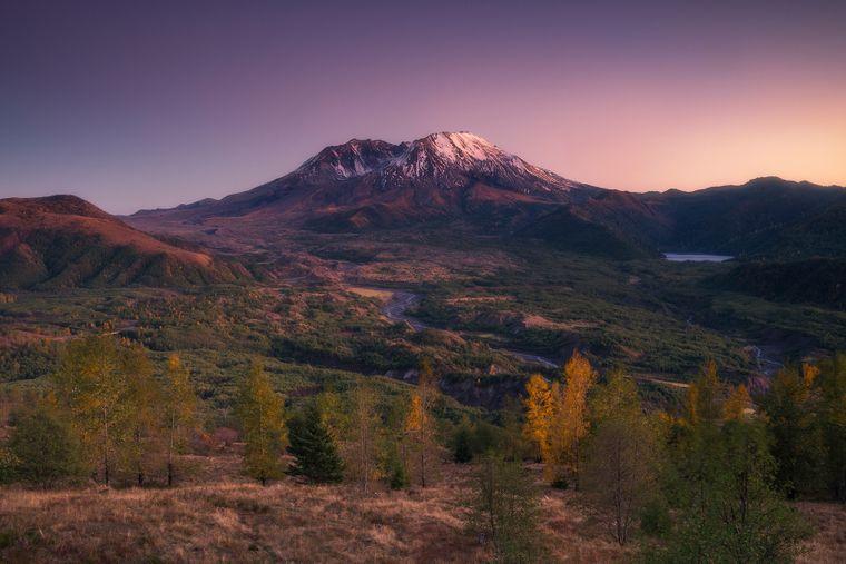Dem Mount St. Helens fehlt seit dem Jahr 1980 die Spitze.
