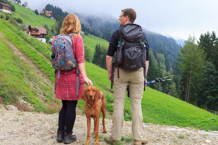 Mit vierbeiniger Begleitung geht es durch die Berge von Kärnten.