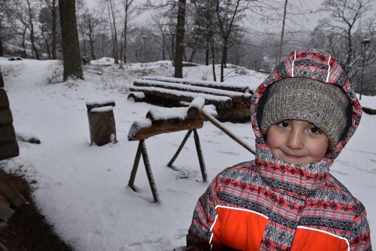 Kleine Auszeit im Schnee.