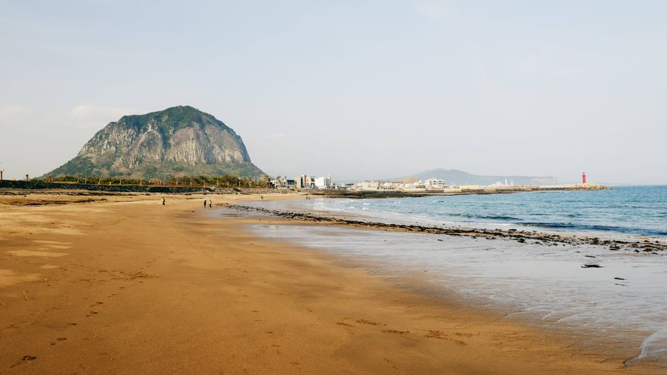 Die Touristinnen machten Urlaub auf der südkoreanischen Insel Jeju.