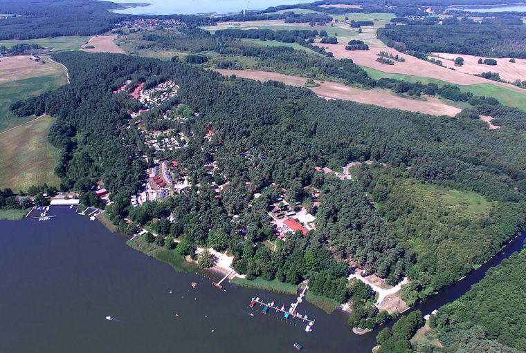 Ein Luftbild von Havelberge.