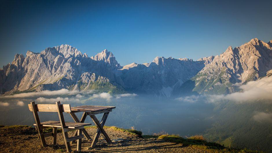 Einzigartige Dolomiten: Die Alpen zeigen sich an ihrem südlichen Ende von ihrer schönsten Seite.