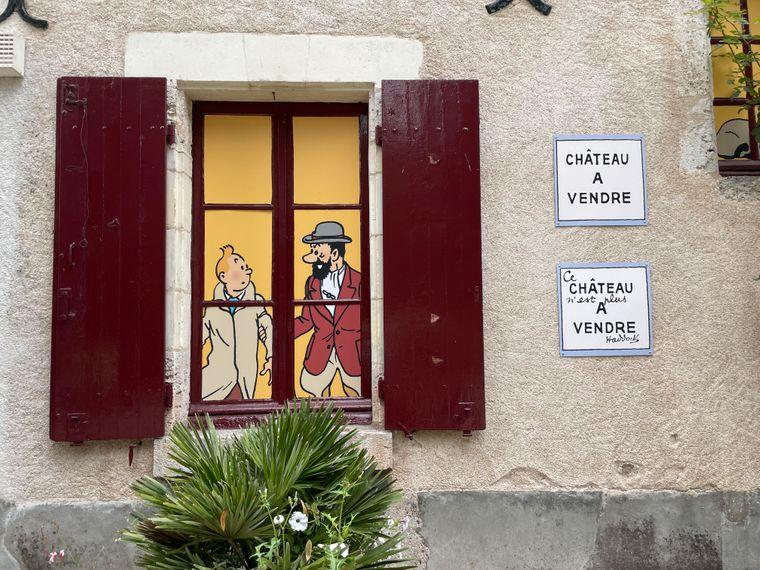 """In einem Nebengebäude des Château de Cheverny ist eine Dauerausstellung zu den """"Tim und Struppi""""-Comics zu sehen."""