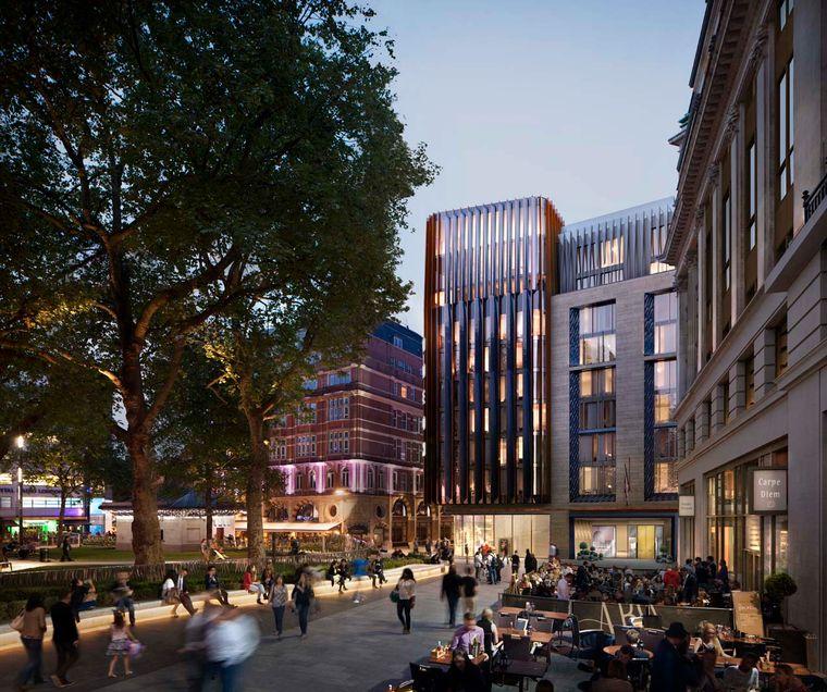 So soll das Hotel The Londoner aussehen, das 2020 im West End eröffnet.
