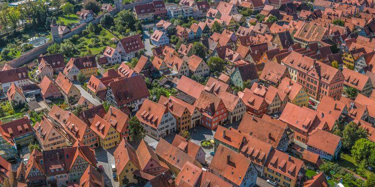 Dinkelsbühl, Altstadt,  an der Romantischen Straße