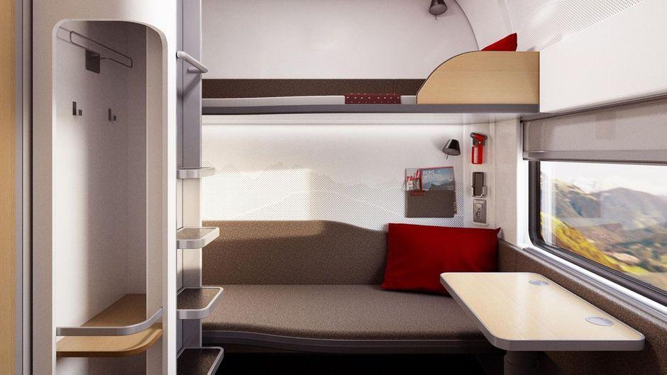 Einblick in das neue Schlafabteil der ÖBB-Nightjets.