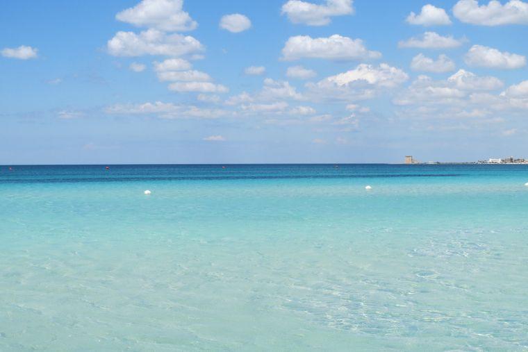 Der Spiaggia di Padula Bianca in der Nähe von Gallipoli.