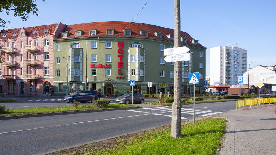 Ein Hotelgebäude in Słubice, Polen.